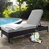 Crosley Furniture - Palm Harbor Outdoor Wicker Chaise Lounge in Brown With Gray Cushions - KO70093BR-GY