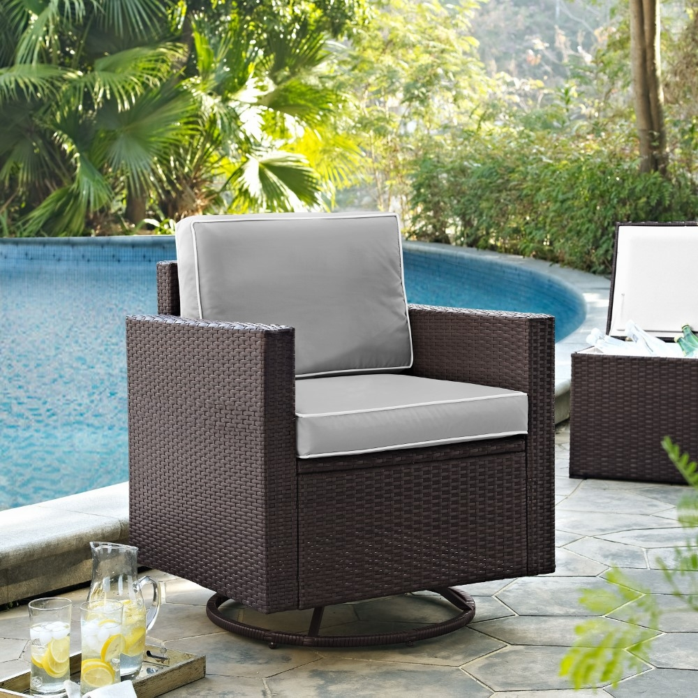Crosley Furniture Palm Harbor Outdoor Wicker Swivel