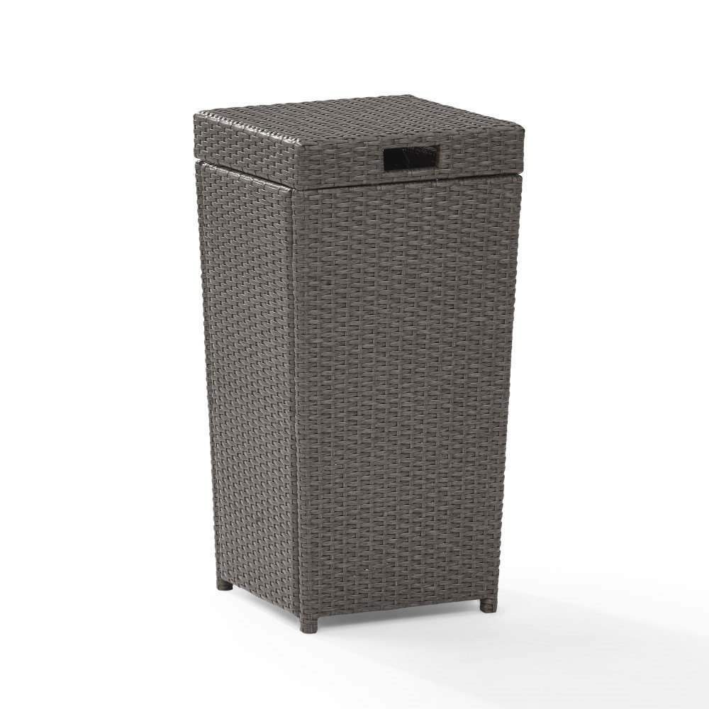 Crosley Furniture Palm Harbor Wicker Trash Bin Co7301 Wg