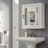 Crosley Furniture - Tara Bath Mirror Cabinet in Vintage White - CF7010-WH