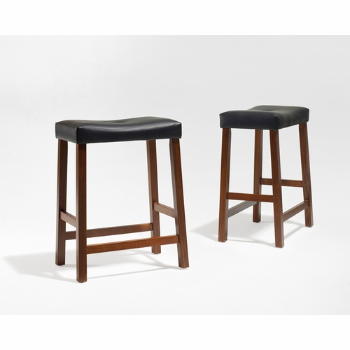 Crosley Furniture Upholstered Saddle Seat Bar Stool In Classic