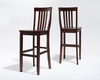 Crosley Furniture - School House Bar Stool in Mahogany Finish with 30 Inch Seat Height  Set of 2 - CF500330-MA
