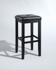 Crosley Furniture - Upholstered Square Seat Bar Stool in Black Finish with 29 Inch Seat Height  Set of 2 - CF500529-BK