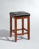 Crosley Furniture - Upholstered Square Seat Bar Stool in Classic Cherry Finish with 24 Inch Seat Height  Set of 2 - CF500524-CH