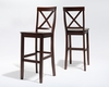 Crosley Furniture - X-Back Bar Stool in Mahogany Finish with 30 Inch Seat Height  Set of 2 - CF500430-MA