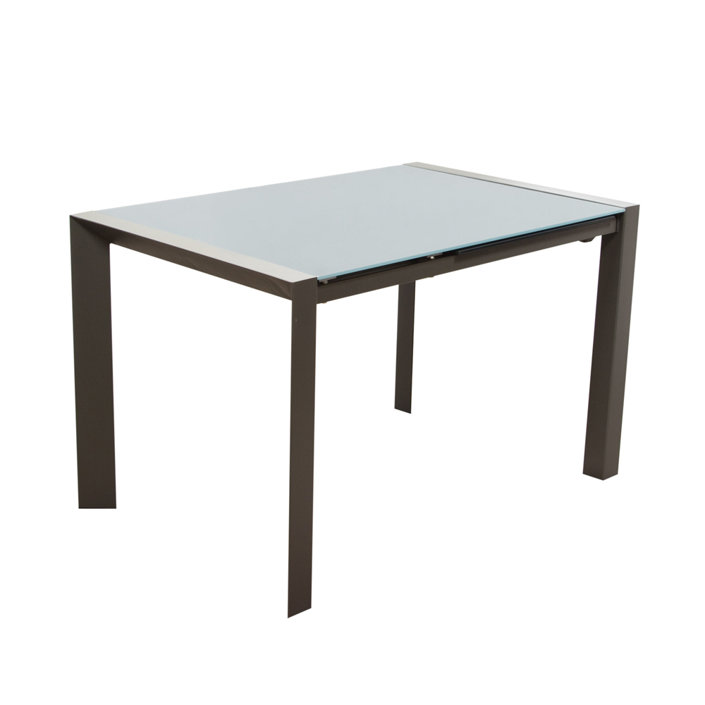 Diamond Sofa Carbon Glass Top Extension Dining Table