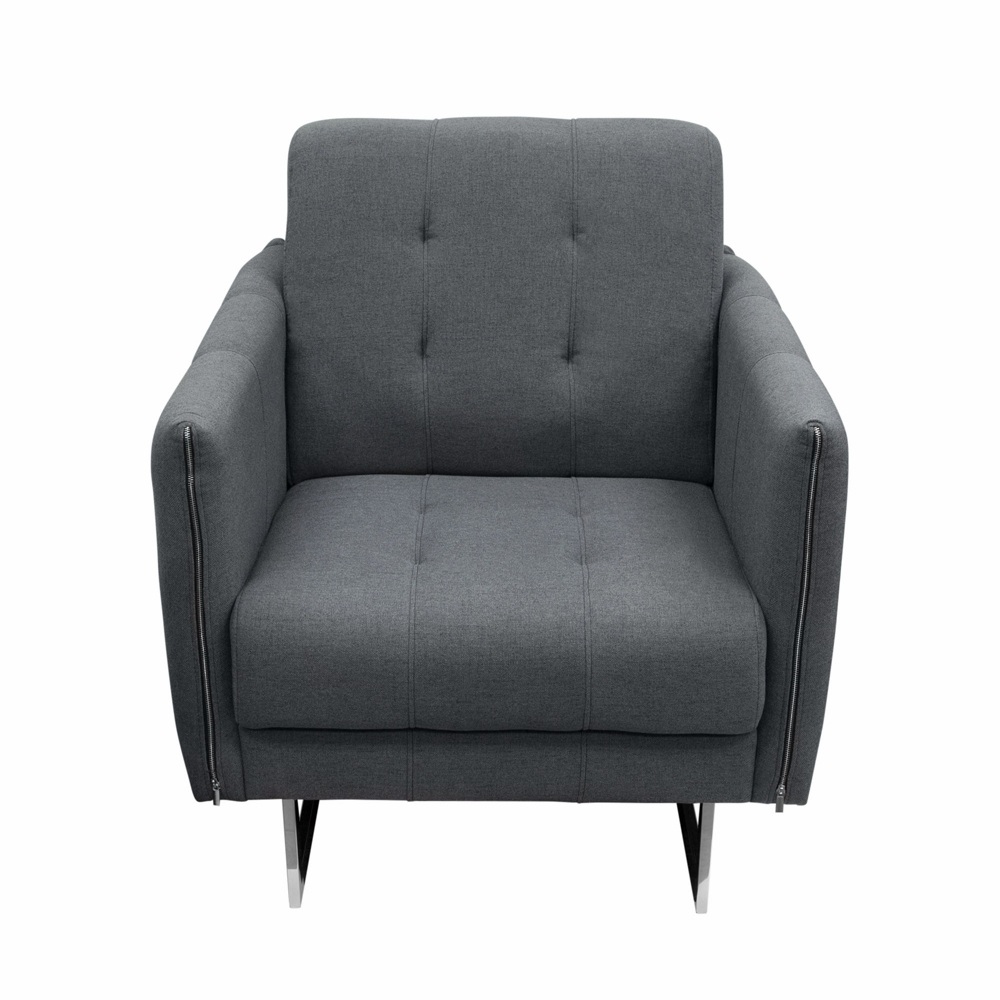 Awesome Diamond Sofa Hampton Accent Chair With Metal Leg In Graphite Fabric Hamptonchgp Ibusinesslaw Wood Chair Design Ideas Ibusinesslaworg