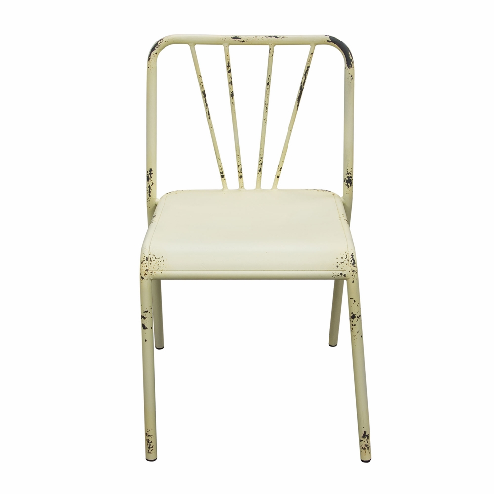 Awesome Diamond Sofa Set Of 2 Mercer Vintage Metal Dining Chair In Antique White Finish Mercerdcwh2Pk Bralicious Painted Fabric Chair Ideas Braliciousco