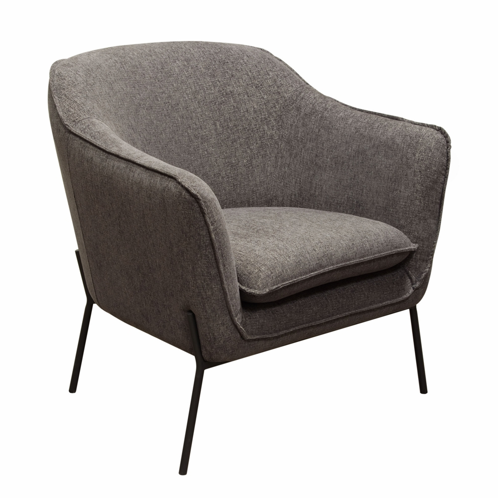 Stupendous Diamond Sofa Status Accent Chair In Grey Fabric With Metal Leg Statuschgr Ibusinesslaw Wood Chair Design Ideas Ibusinesslaworg