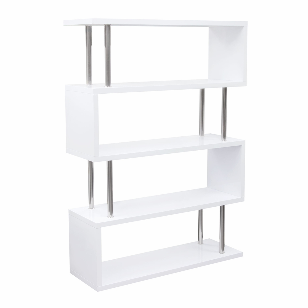 buy online a1b09 74632 Diamond Sofa - X2 Large Shelving Unit in White Lacquer with Metal Supports  - X2SHWH