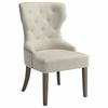 Coaster - Florence Side Chair In Beige Fabric - 104507