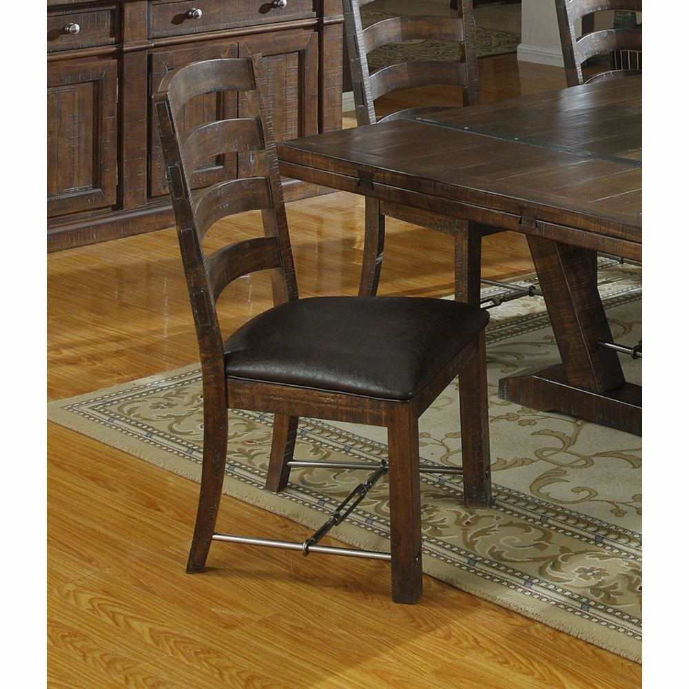 Prime Emerald Home Furnishings Castlegate Dining Chair With Bonded Leather Seat Set Of 2 D942 20 2Pk K Cjindustries Chair Design For Home Cjindustriesco