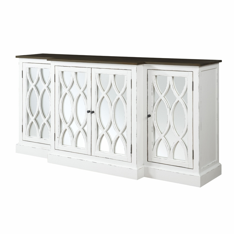 """Emerald Home Furnishings - Mountain Retreat 78"""" Cabinet w/Mirror Accent - D601-60"""