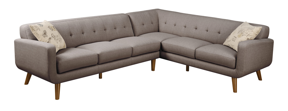 Emerald Home Furnishings - Remix 2-Piece Sectional (LSF Sofa, RSF ...