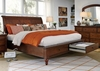 Emery Park - Bedford King Sleigh Storage Bed In Brown Cherry