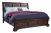 Emery Park - Brentwood California King Leather Sleigh Storage Bed - I08-425_410_407D