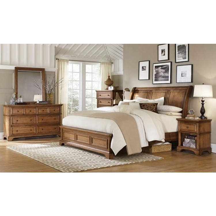 Emery Park - Summerfield 5 Piece King Sleigh Bedroom Set - I09-404_406_407_451N_456_453_462