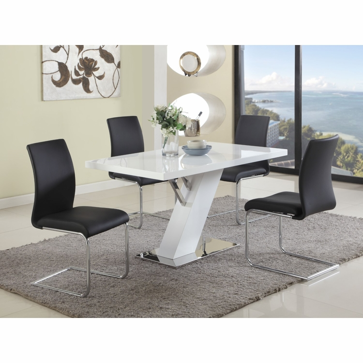 Chintaly - Linden 5 Pieces Dining Set Table With 4 Jane Side Chairs - LINDEN-JANE-5PC