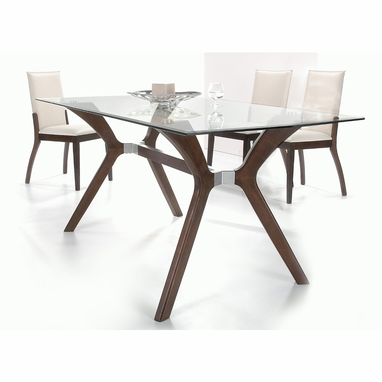 Chintaly - Luisa 5 Pieces Dining Set Table With 4 Side Chairs - LUISA-5PC