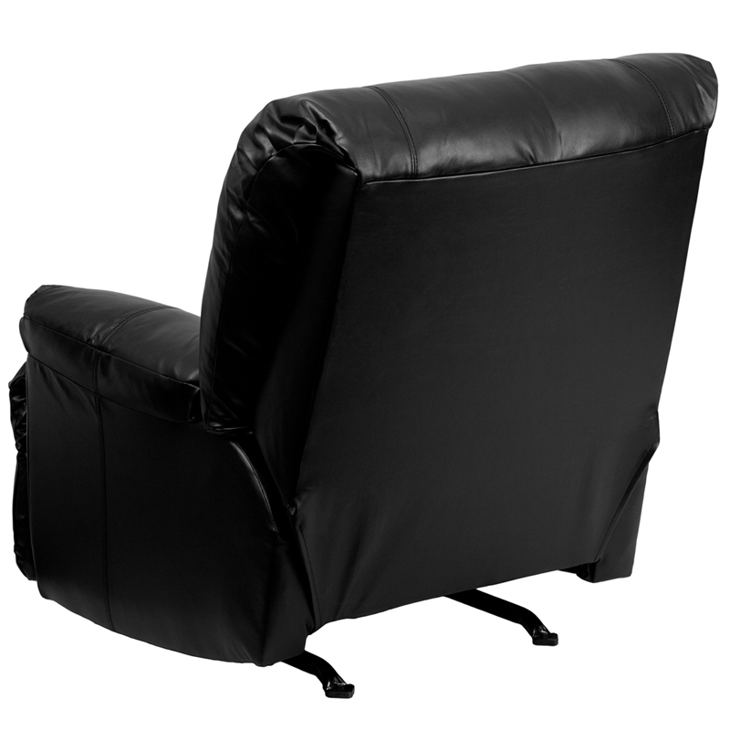 Flash Furniture Contemporary Apache Black Leather Rocker Recliner Wm 8500 371 Hover To Zoom