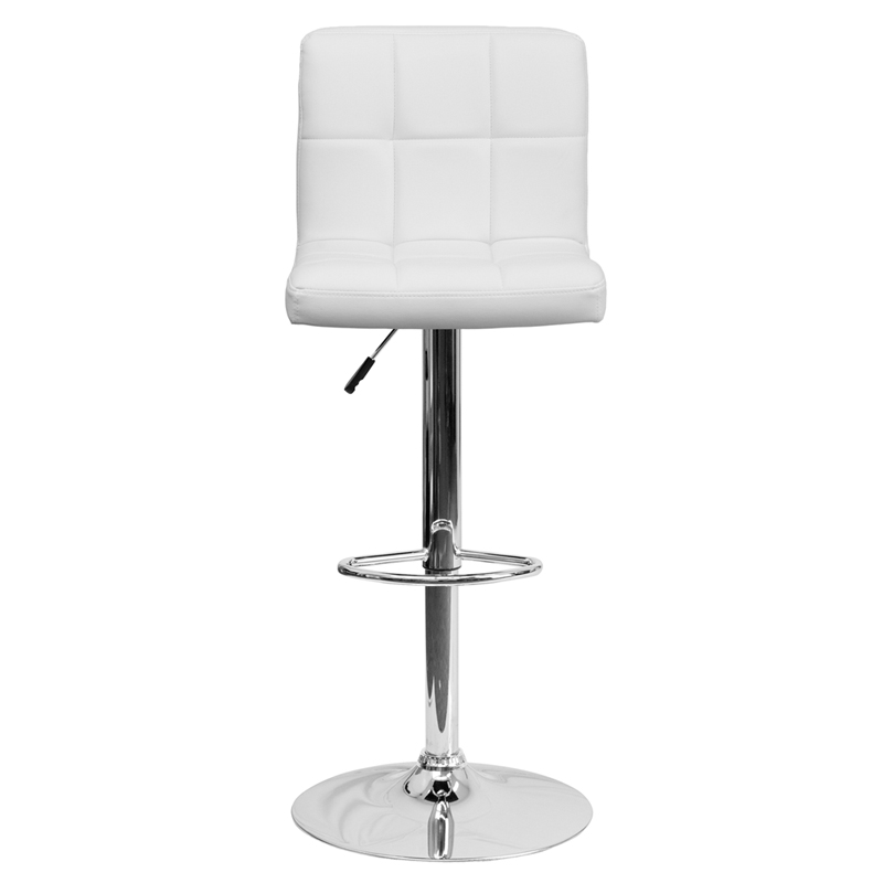 Flash Furniture Contemporary White Quilted Vinyl