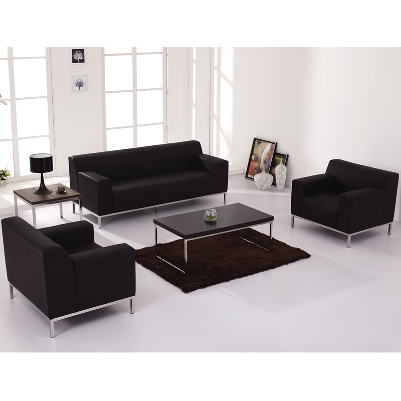 Flash Furniture - Hercules Definity Series Contemporary Black ...