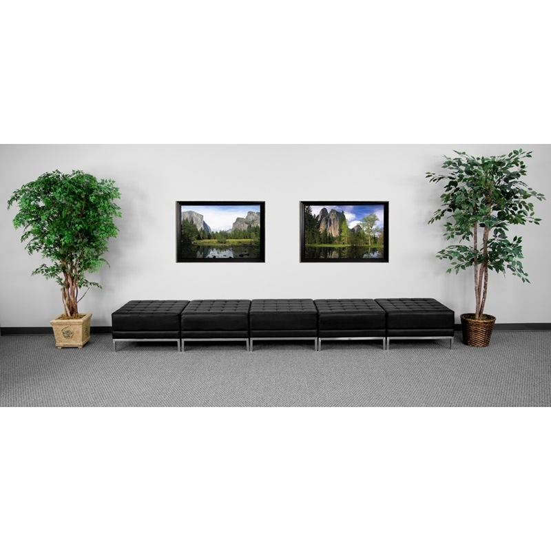Flash Furniture Hercules Imagination Series Black Leather Five Seat Bench Zb Imag Hover To Zoom