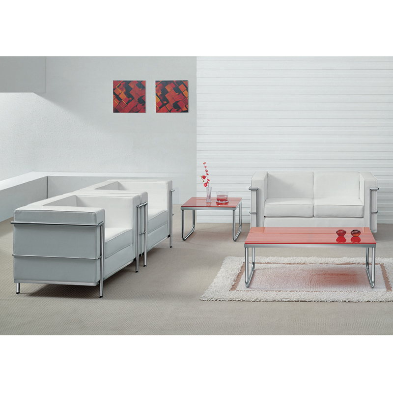 Flash Furniture - Hercules Regal Series Contemporary White Leather ...