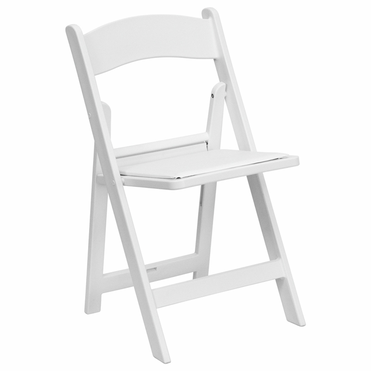 Peachy Flash Furniture Hercules Series 1000 Lb Capacity White Resin Folding Chair With White Vinyl Padded Seat Le L 1 White Gg Ocoug Best Dining Table And Chair Ideas Images Ocougorg