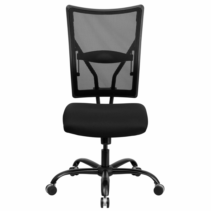 400 Lb Capacity Tall Black Mesh Office Chair Hover To Zoom