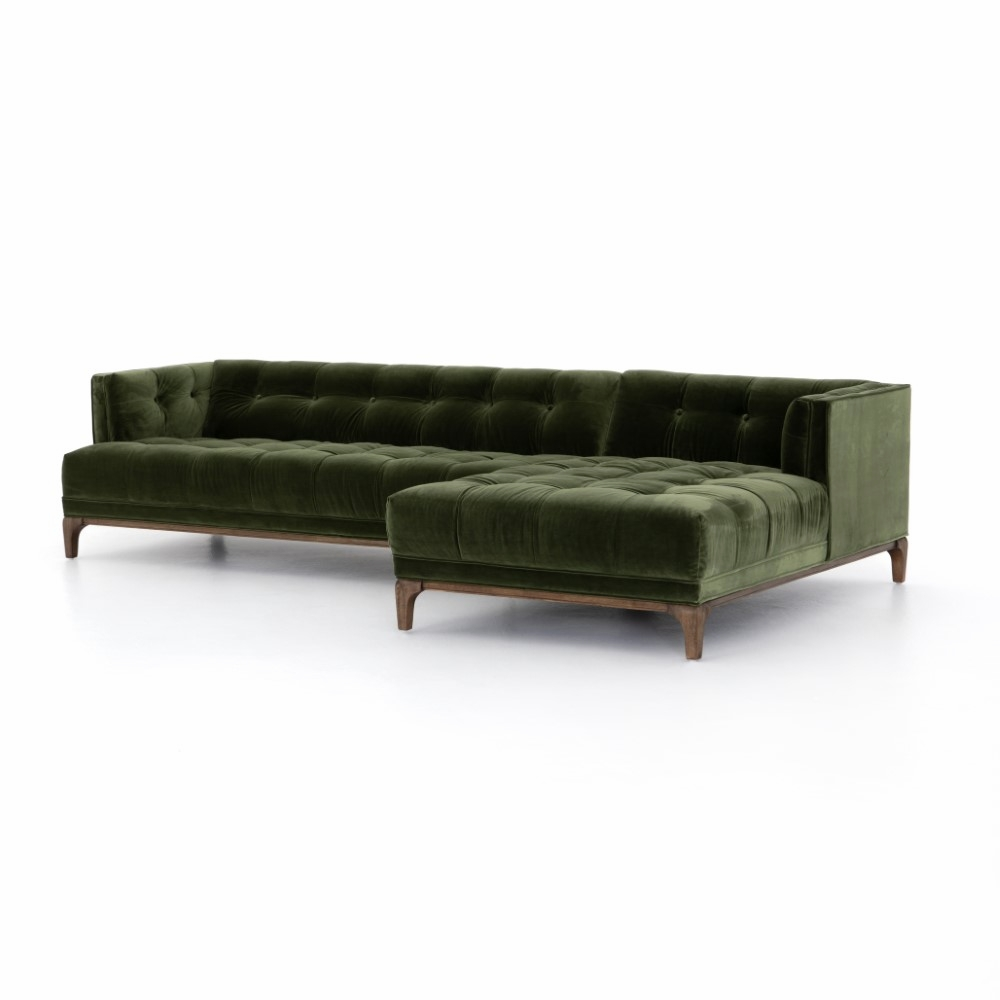 Astonishing Four Hands Dylan 2 Pc Sectional With Raf Chaise Cken 145C 557 S1 Inzonedesignstudio Interior Chair Design Inzonedesignstudiocom
