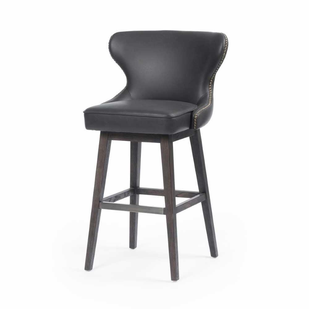 Magnificent Four Hands Julie Swivel Bar Stool Distressed Black Cash 87J 405 Gmtry Best Dining Table And Chair Ideas Images Gmtryco