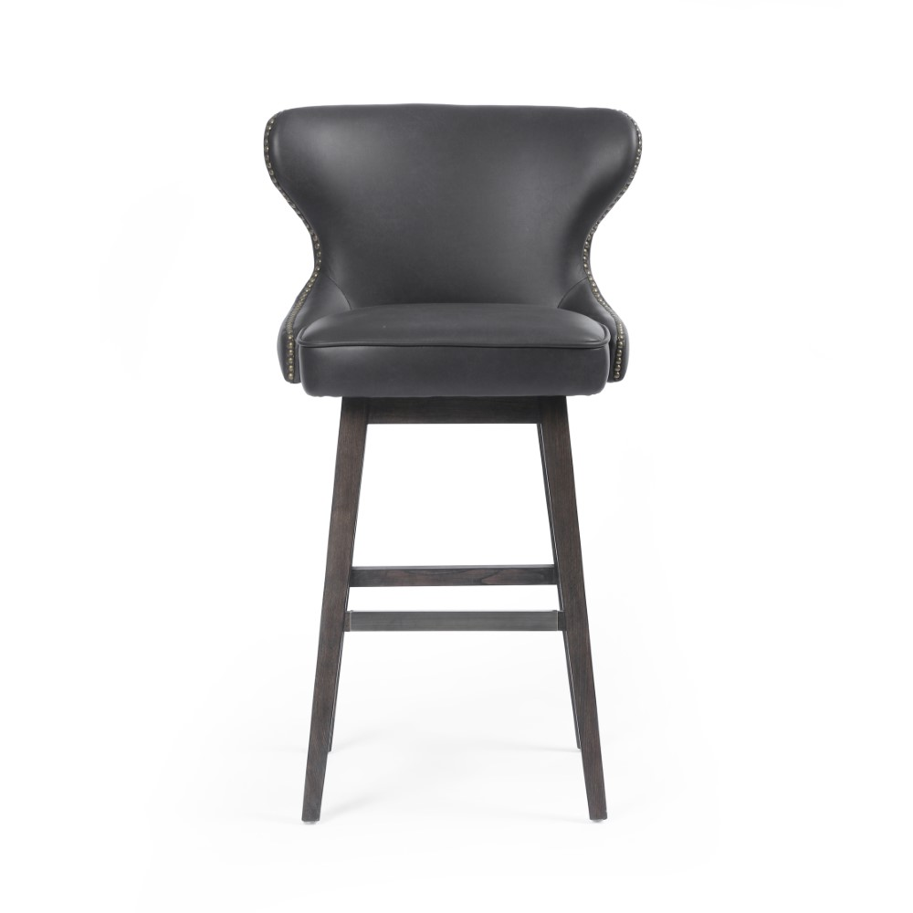 Phenomenal Four Hands Julie Swivel Bar Stool Distressed Black Cash 87J 405 Gmtry Best Dining Table And Chair Ideas Images Gmtryco