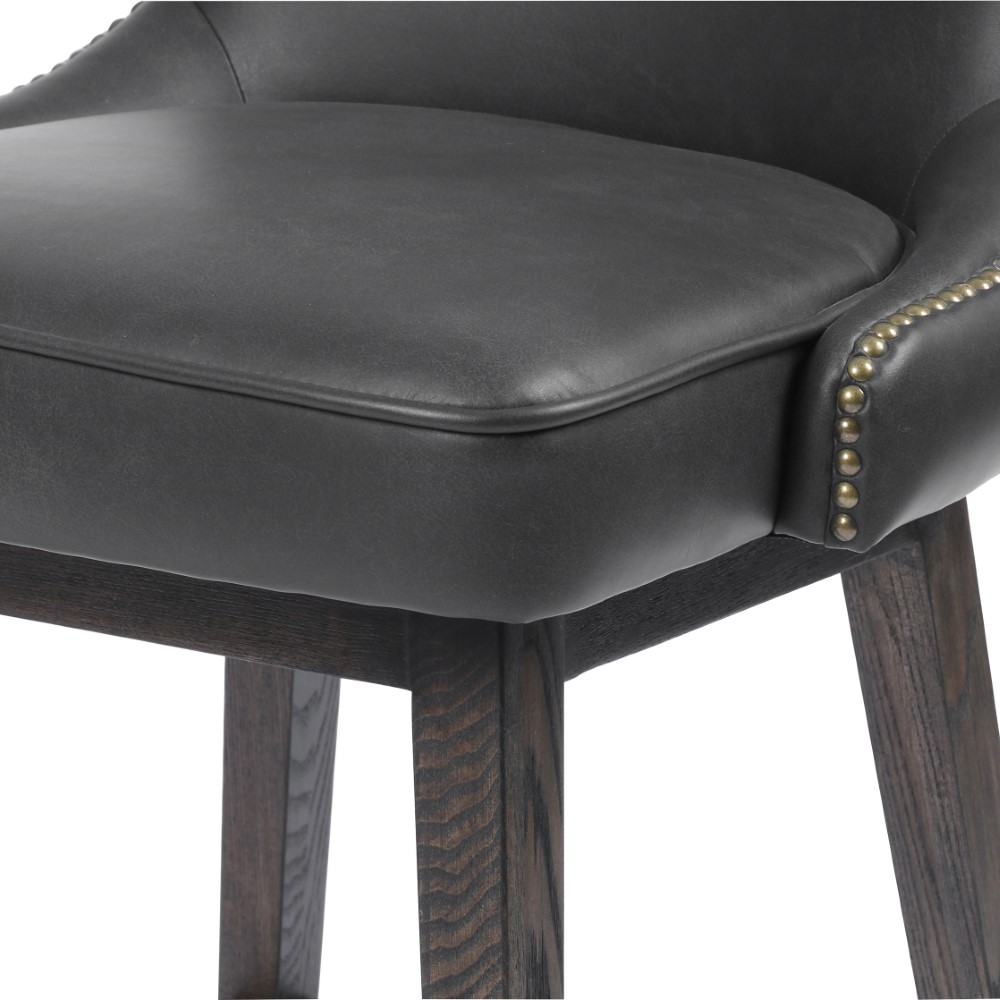 Astonishing Four Hands Julie Swivel Counter Stool Distressed Black Cash 109J 405 Squirreltailoven Fun Painted Chair Ideas Images Squirreltailovenorg