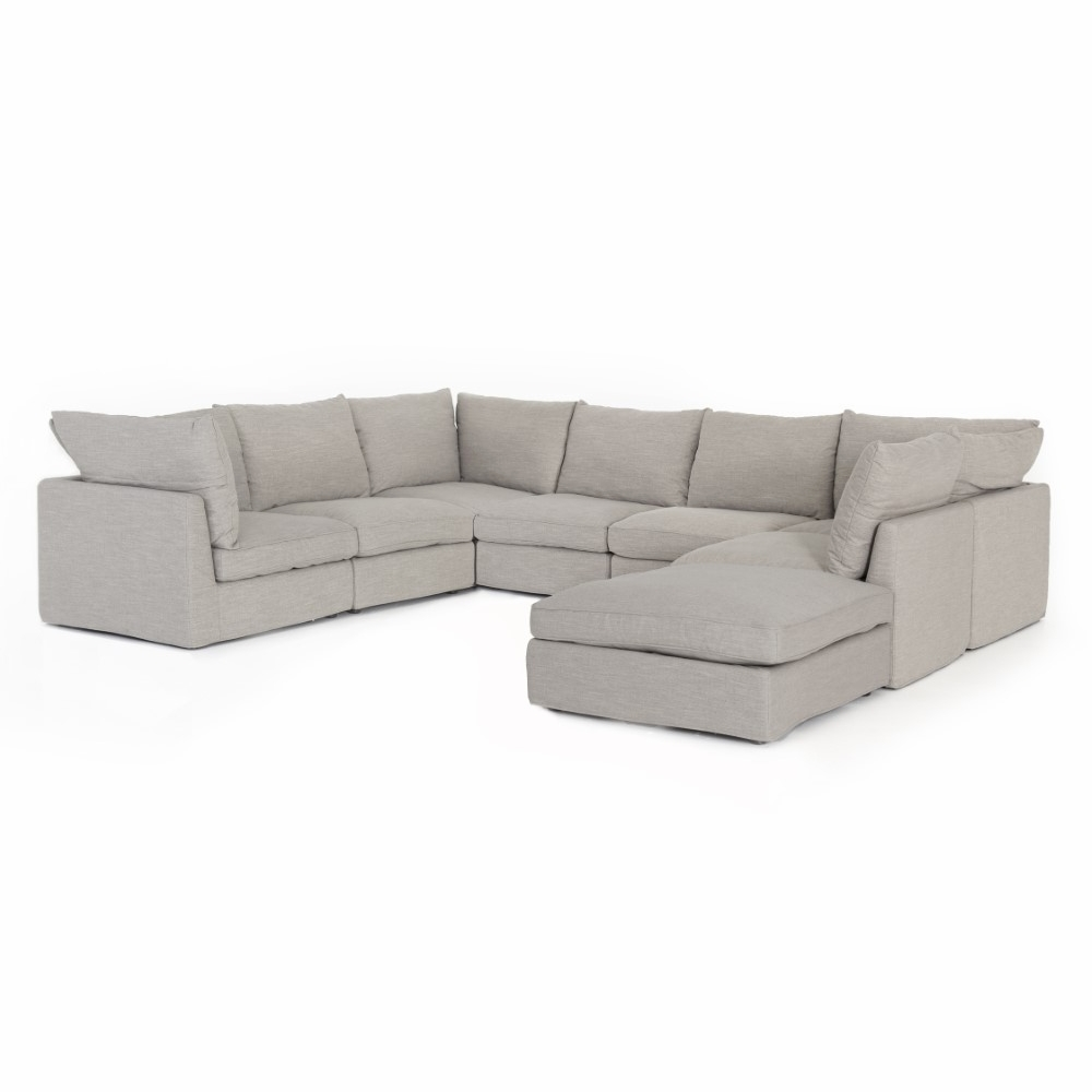 Fantastic Four Hands Paul 7 Piece Sectional With Ottoman Cken 160 082P S8 Machost Co Dining Chair Design Ideas Machostcouk