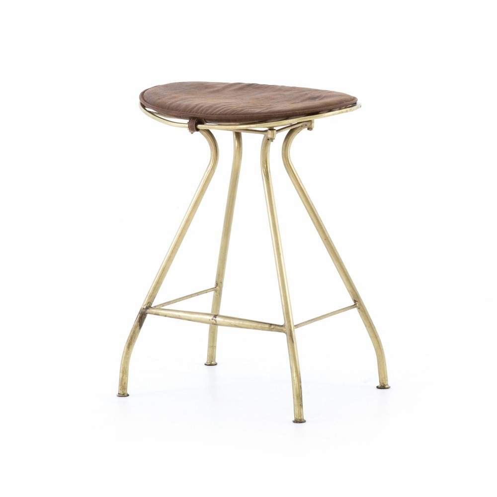Phenomenal Four Hands Ryder Counter Stool Antique Brass Irck 13313 089 Squirreltailoven Fun Painted Chair Ideas Images Squirreltailovenorg