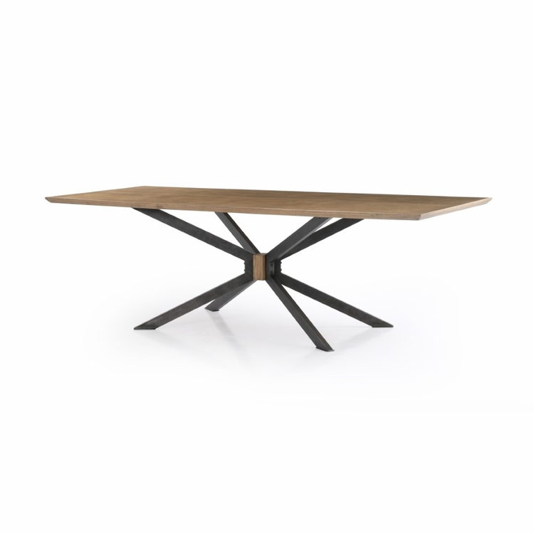 Four Hands Spider Dining Table 94 Sandy Oak CIMP 251