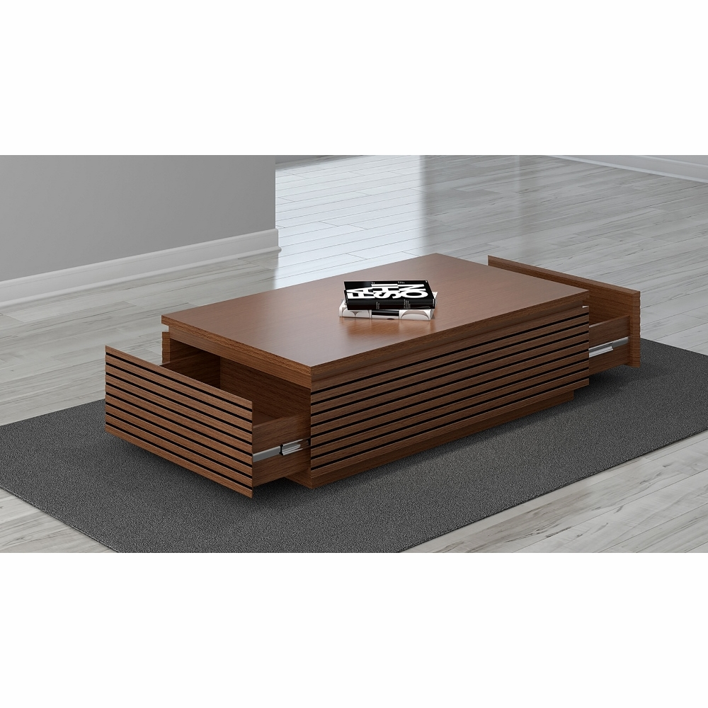 Furnitech 48 Contemporary Coffee Table In A Light Cherry Finish Samba Ct