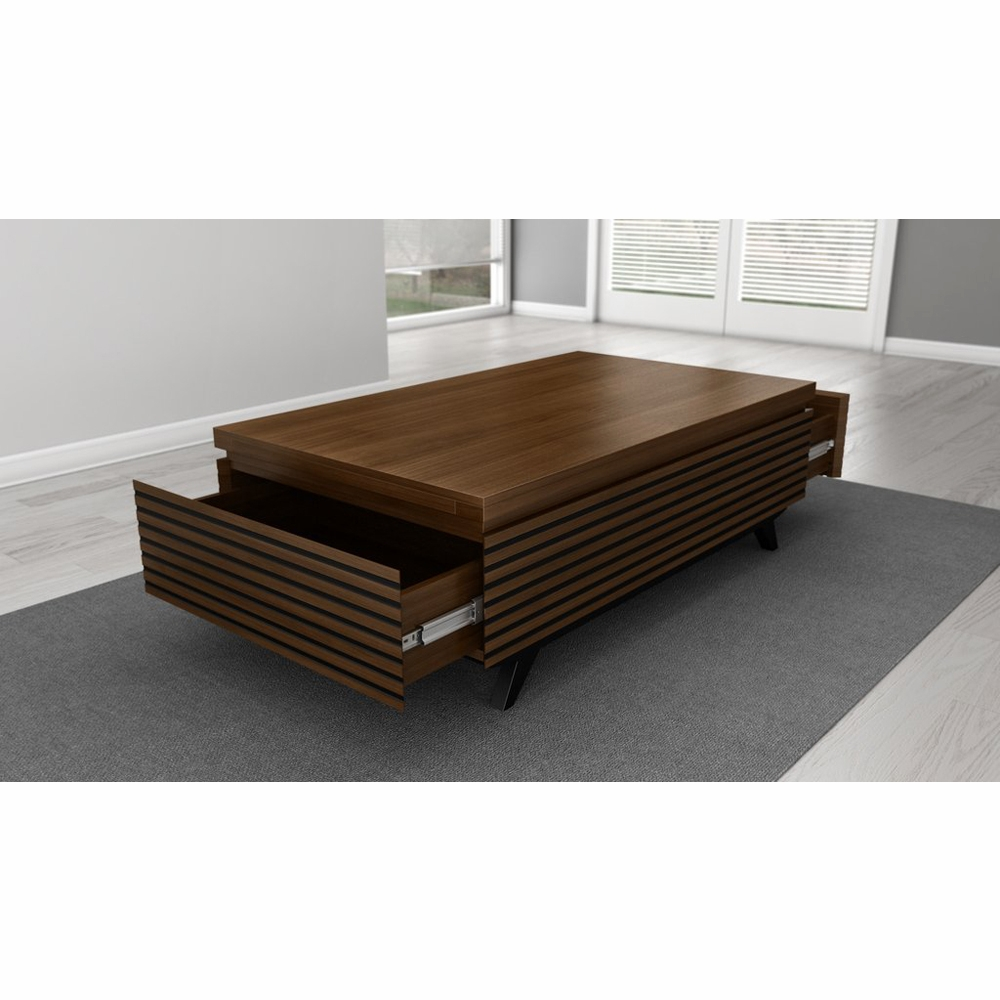 Furnitech 48 Mid Century Modern Coffee Table In A Cognac Finish Over Brazilian Cherry Wood Tango Ct