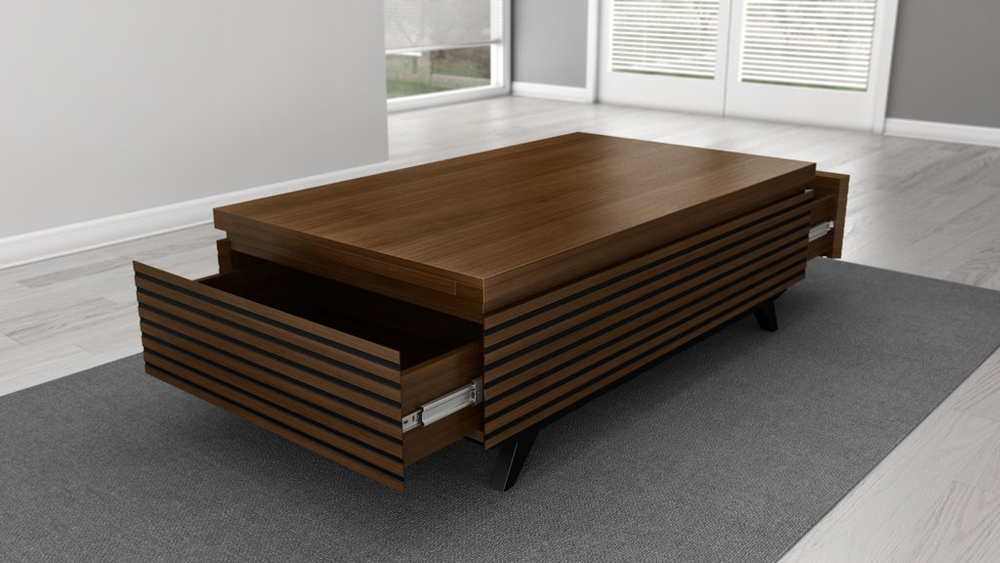 Furnitech 48 Mid Century Modern Coffee Table In A