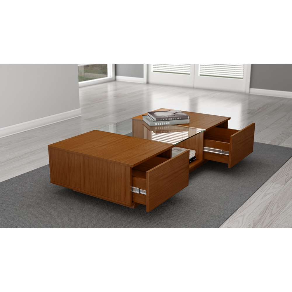 Furnitech 53 Quot Sleek Contemporary Coffee Table In A Light