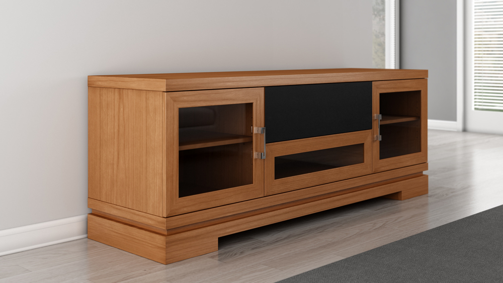 Furnitech 70 Quot Contemporary Asian Tv Stand Media Console For Flat Screen And Audio Video
