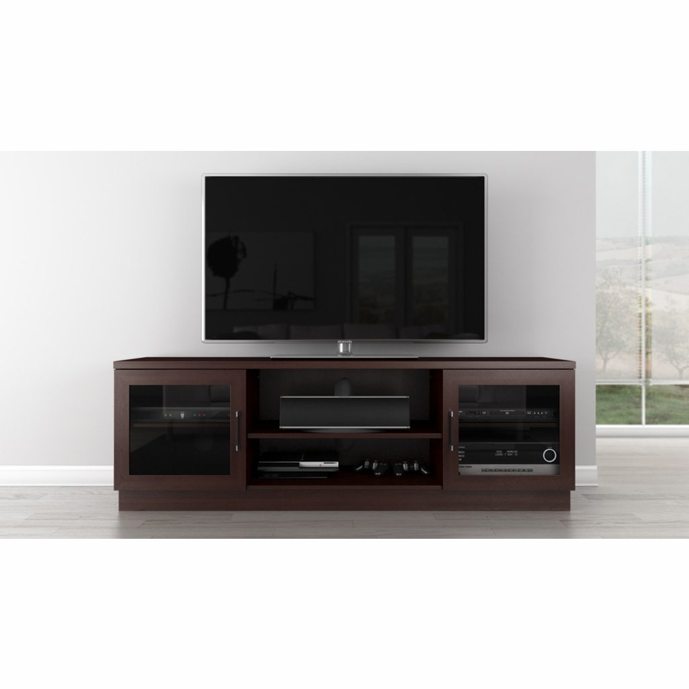 Furnitech 70 Contemporary Tv Stand Media Console For Flat Screen And Audio Video Installations In A Wenge Finish Ft70ccw