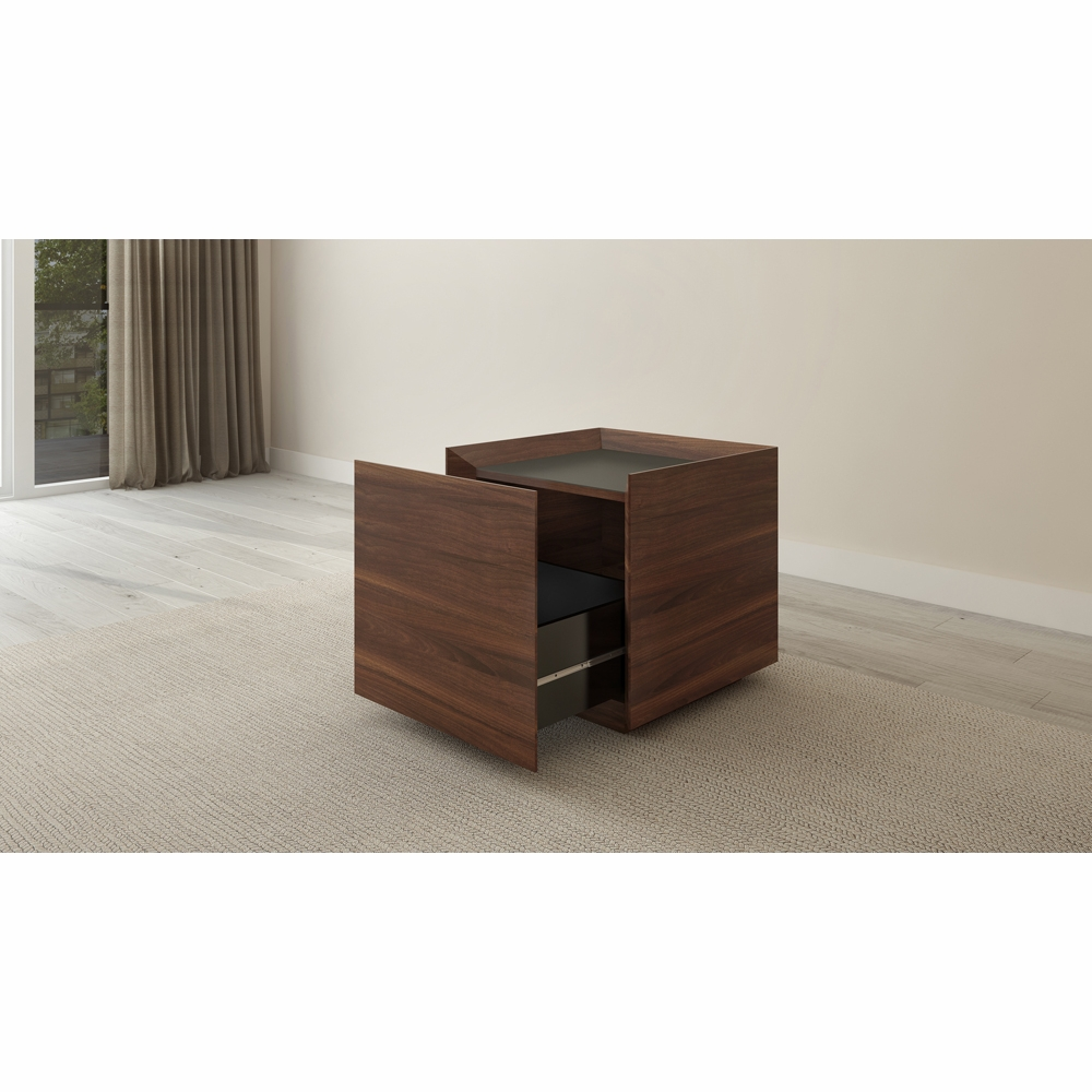. Furnitech   Single Drawer Contemporary Walnut End Table   FT24ETCF