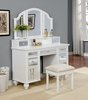 Furniture of America - Alsinna Contemporary Style Vanity Table & Stool in White - IDF-DK6162WH
