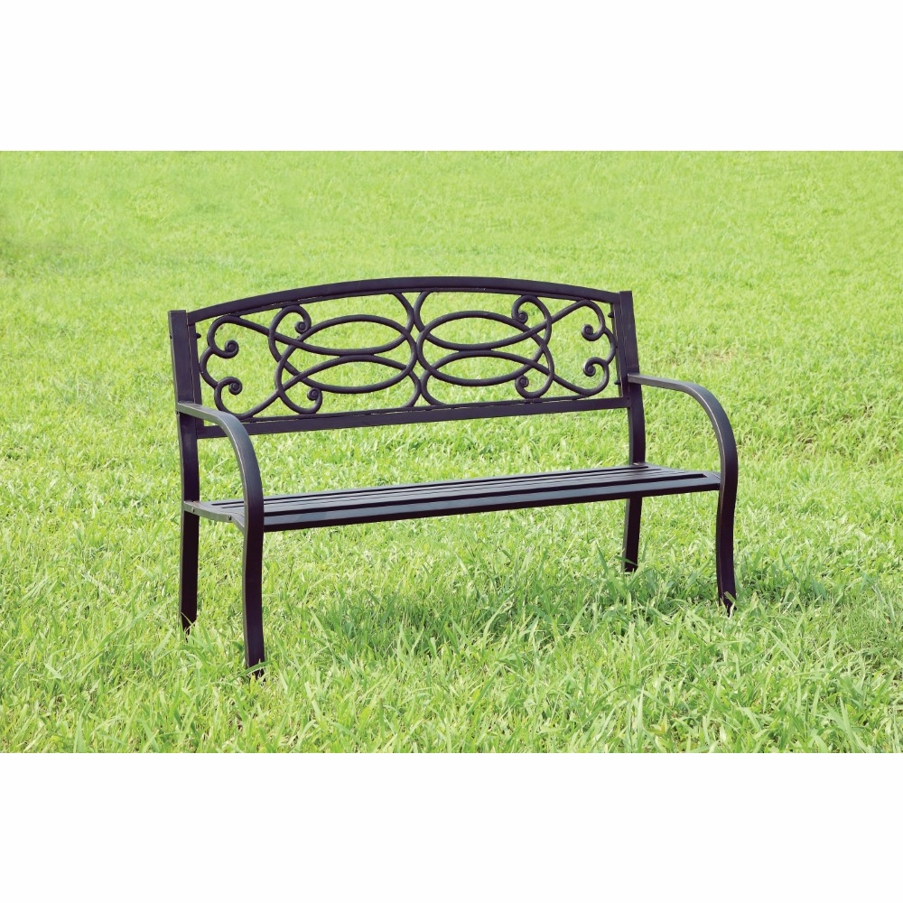 Prime Furniture Of America Alvea Contemporary Style Steel Finish Outdoor Patio Bench Idf Ob1808 Evergreenethics Interior Chair Design Evergreenethicsorg