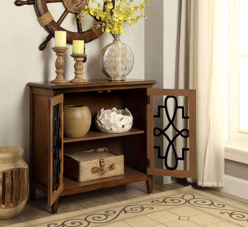 exciting hall cabinets furniture | Furniture of America - Delamo Vintage Style Hallway ...