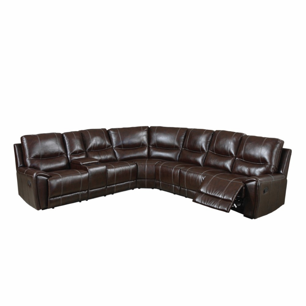 Sensational Furniture Of America Dolary Contemporary Style Plush Leatherette Recliner Sectional Idf 6559 Alphanode Cool Chair Designs And Ideas Alphanodeonline