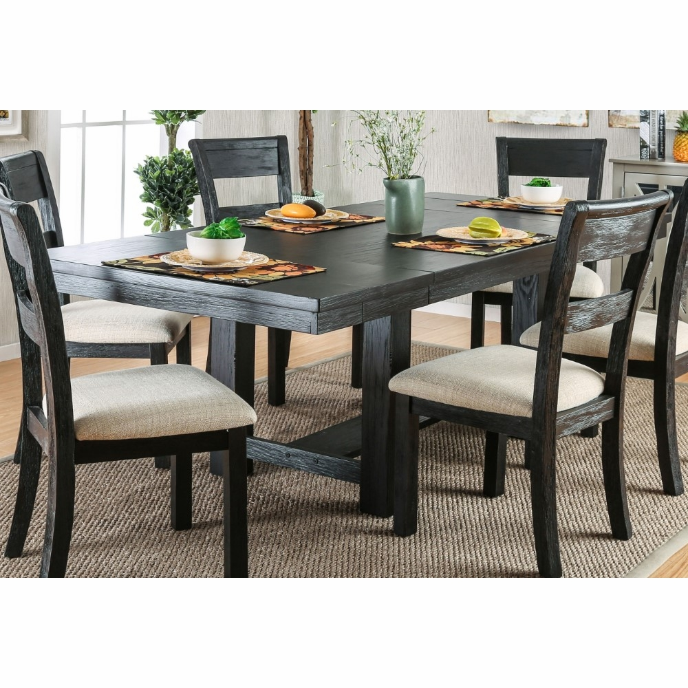 Furniture of America - Galena Transitional Expandable 2PC Leaf Dining Table  - IDF-3543T