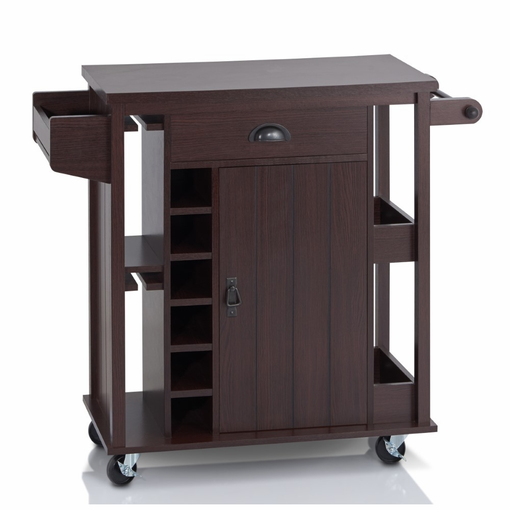 Furniture of America - Harmon Modern Kitchen Cart in Espresso - FGI-15702C5